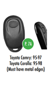 Toyota Glovebox Black Button