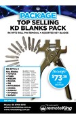 KD Blade Pack - Top Selling KD Blanks x3 each blade and RPT2