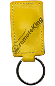 Yellow Leather Key Tag - Dual Frequency