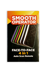 Smooth Operator Face to Face Universal Garage Remote 6 pack  (one of each col...