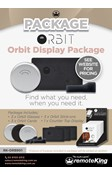 Orbit Display includes 3x Orbit Glasses, 3x Orbit Card 3x Orbit Stick ons